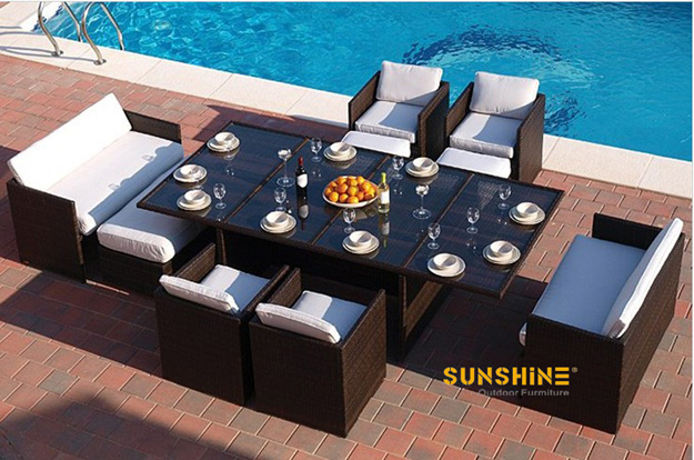 Juego rat n de comedor fco 2068 muebles de rat n moderno for Sofa mimbre terraza