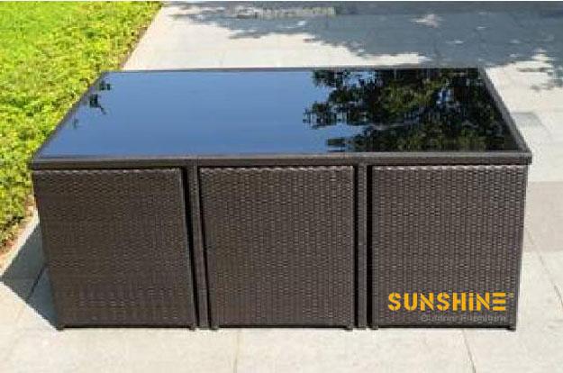mobiliario jardim rattan : mobiliario jardim rattan:Mesa de Jantar Rattan FCO-049 – china exterior e fabricante de móveis
