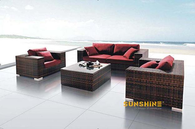 Sof rota al aire libre fco 034 muebles de rat n moderno for Muebles para terraza al aire libre