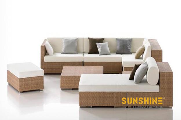 Sofá seccional al aire libre FCO-2049 - Muebles de ratán moderno ...