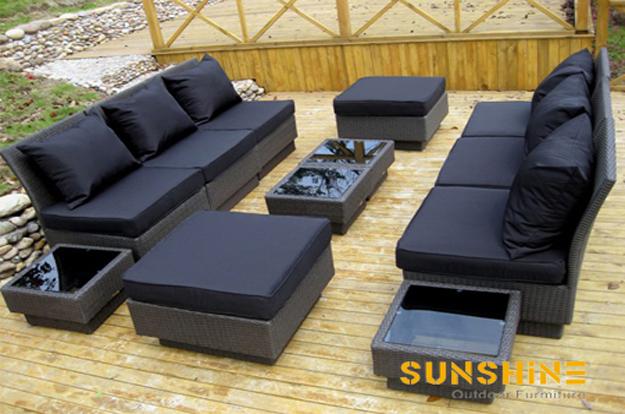 Sof de terraza fco 2060 muebles de rat n moderno for Sofa mimbre terraza