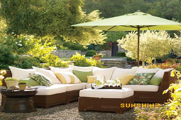 Sofá de la sala jardín FCO-2083 - Muebles de ratán moderno | Muebles ...