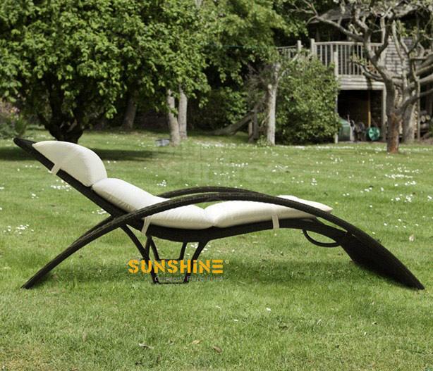 Rattan tumbona de sol FCO-2026 - Muebles de ratán moderno | Muebles ...