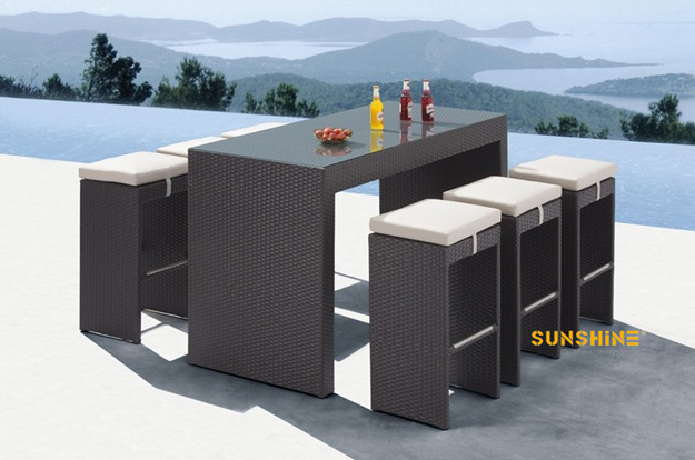 Mesa ratán de bar FCO-2009 - Muebles de ratán moderno | Muebles de ...
