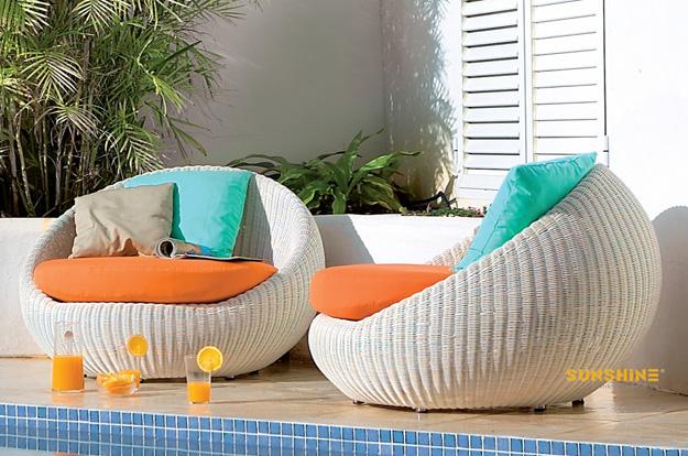 Garden Daybed Outdoor Furniture, Modern Wicker Patio Furniture