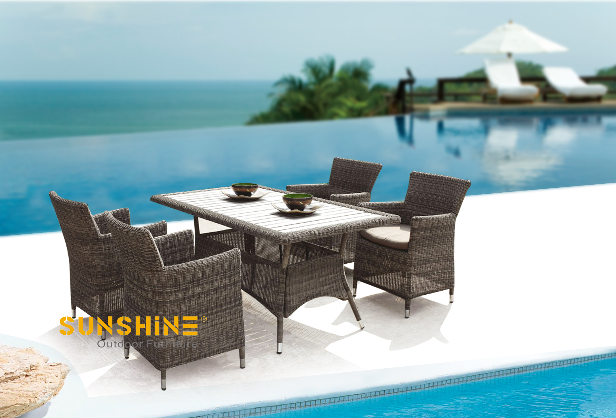 Round Rattan Dining Sets