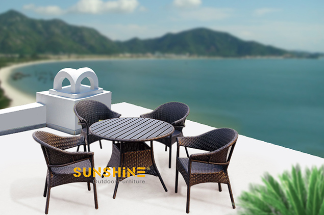 Rattan Table Chair Outdoor Furniture Modern Rattan Furniture Patio Furniture Garden Furniture Sunshine Outdoor Furniture In China